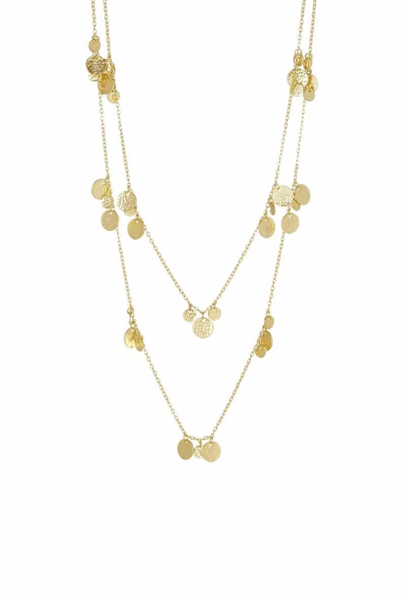 2adfa1f016926 Ashiana London Gold Plated Double Chain Necklace