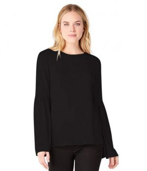 6c48aff9ba96 Michael Stars Jess Asymmetrical Ruched Tee – Black. £75.00. Select options.  S