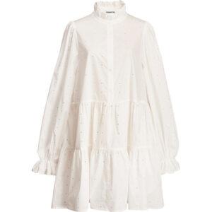 Stick & Ribbon Nottingham Essentiel Antwerp Zinga Cotton Pop Dress White WH00